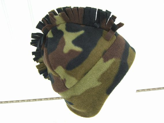 3a2ba223aa0ca Camouflage MOHAWK HAT Men s fleece hat Men s Winter Hat by HotHats