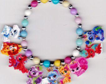 Disney Princess Palace Pets Necklace Set Bracelet Beaded Kids Fashion Jewelry