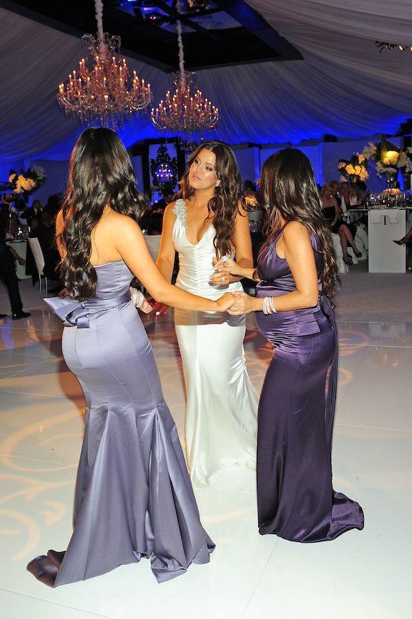Khloe Kardashian Wedding Kardashian Wedding Mermaid Bridesmaid Dresses Celebrity Dresses