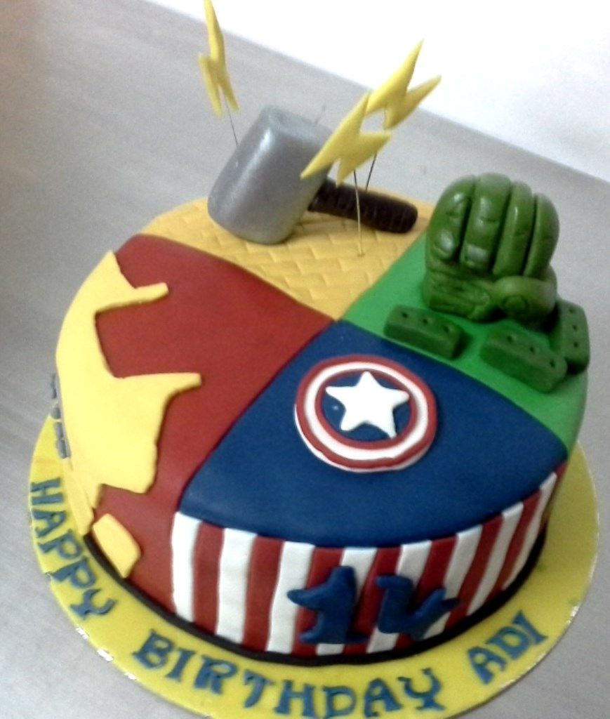 27 Excellent Image Of Order Birthday Cakes Online The Avengers Cake Miras Dial A Bangalore