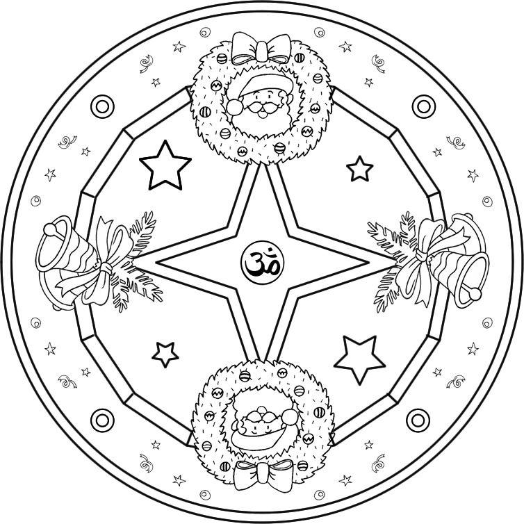 Mandala Navideño 1 Mandalas Pinterest Mandalas, Adornos de