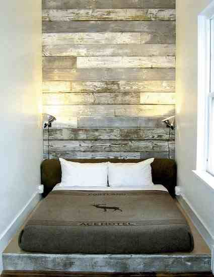 Reclaimed Wood Headboard If Enough Wood Do Up The Entire Wall