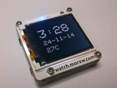 Tardis is a DIY Arduino-compatible smartwatch. #Atmel #Smartwatch #DIY #Makers #Arduino