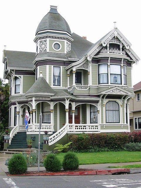 Casa Victoriana Gris Casas Estilo Victoriano Casas Victorianas Casas
