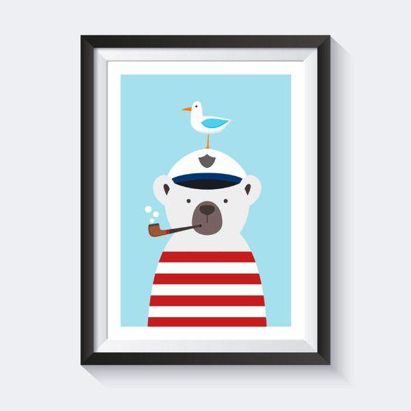 Drucke & Plakate - A4 Poster Kinderzimmer Bild Kinder Poster maritim ...