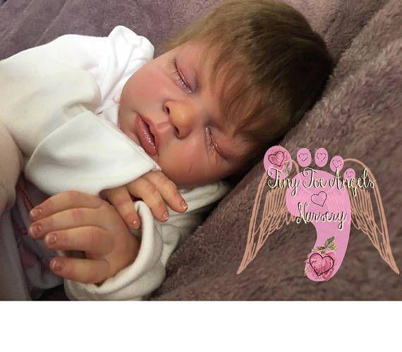 Noah asleep custom made to order newborn sized baby created from the beautiful reva schick