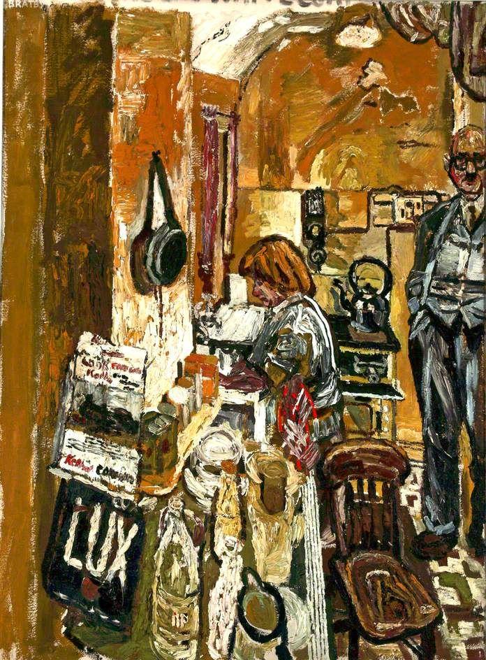 Kitchen Interior, 1955-56 by John Bratby (British 1928–1992 ...