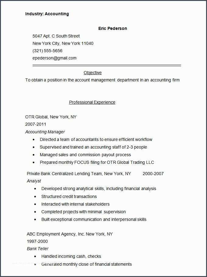 Accounting Resume Templates PDF DOC | Sample resume ...