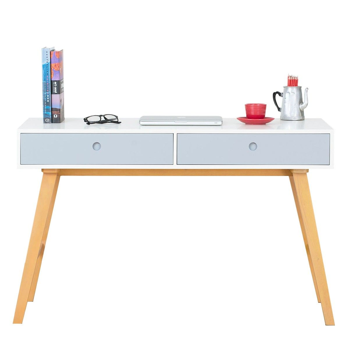 Countess Scandinavian Office Desk White Blue Scandinavian Furniture Style White Desk Office Office Desk Desk