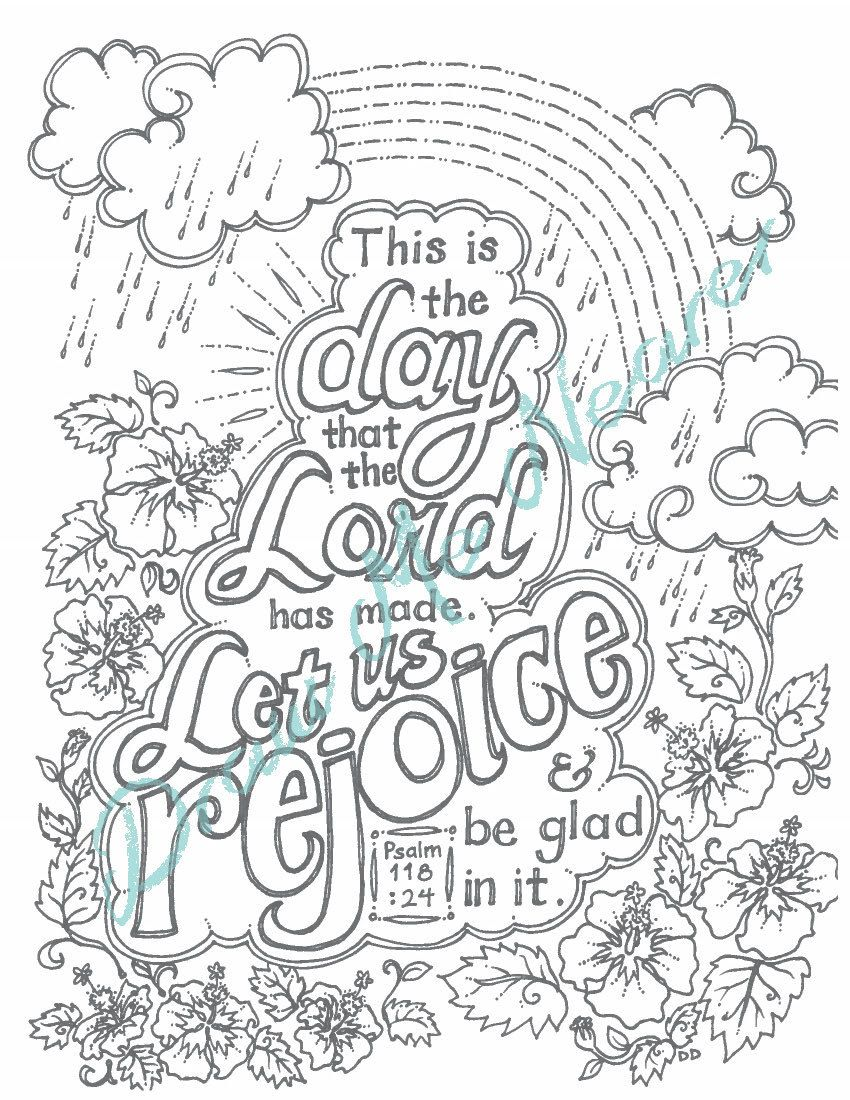 Printable Coloring Page of Bible Verse: adult coloring ...
