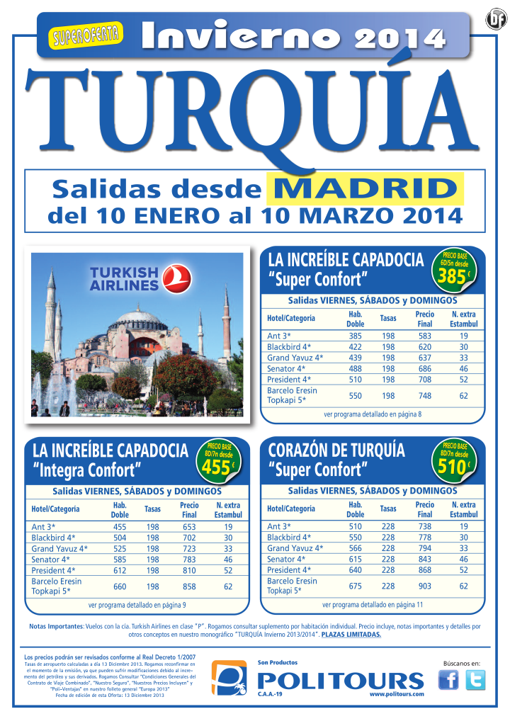 "TURQUÍA: La increíble Capadocia ""Integra Confort"", sal. 17/01 al 10/03 dsd Mad (8d/7n) p.f. 653€ ultimo minuto - http://zocotours.com/turquia-la-increible-capadocia-integra-confort-sal-1701-al-1003-dsd-mad-8d7n-p-f-653e-ultimo-minuto/"