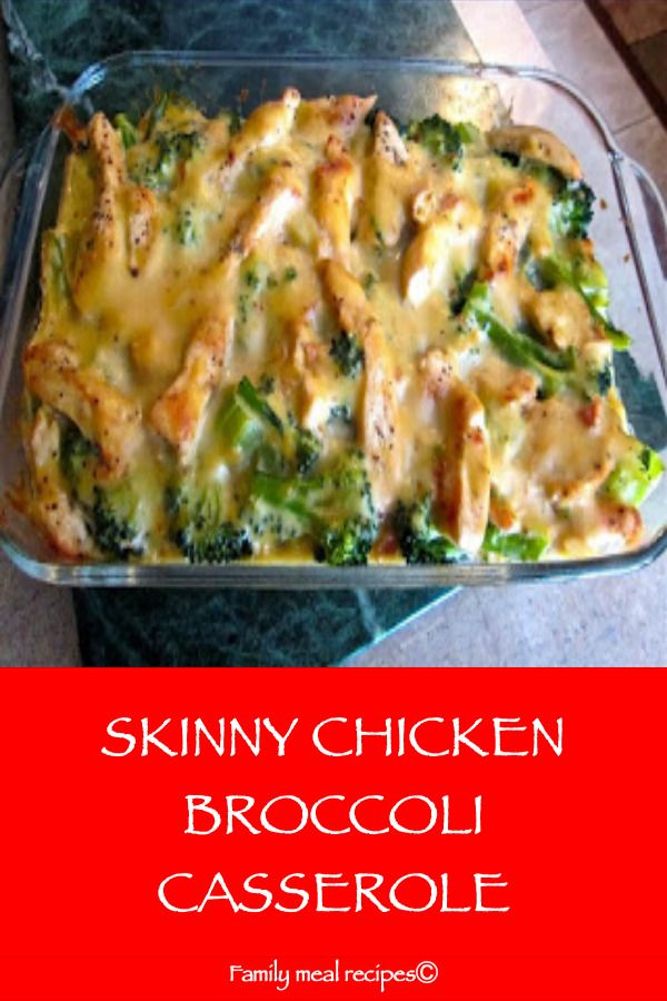 Skinny Chicken Broccoli Casserole In 2020 With Images Low Calorie Chicken Healthy Chicken Recipes Recipe Using Chicken