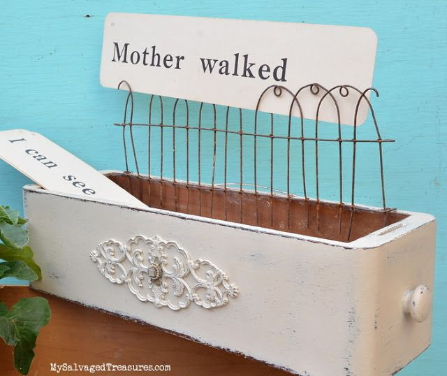 Farm Fresh Projects decorated sewing machine drawer