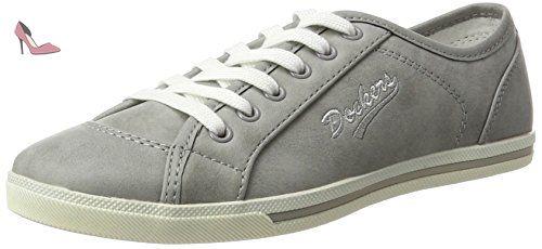 27ch221-610100, Sneakers Basses Femme, Noir (Schwarz), 37 EUDockers by Gerli