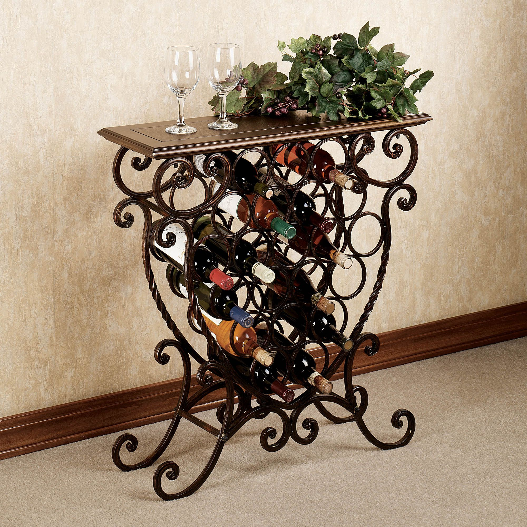 rack side single varela wood solid drawer wine product table