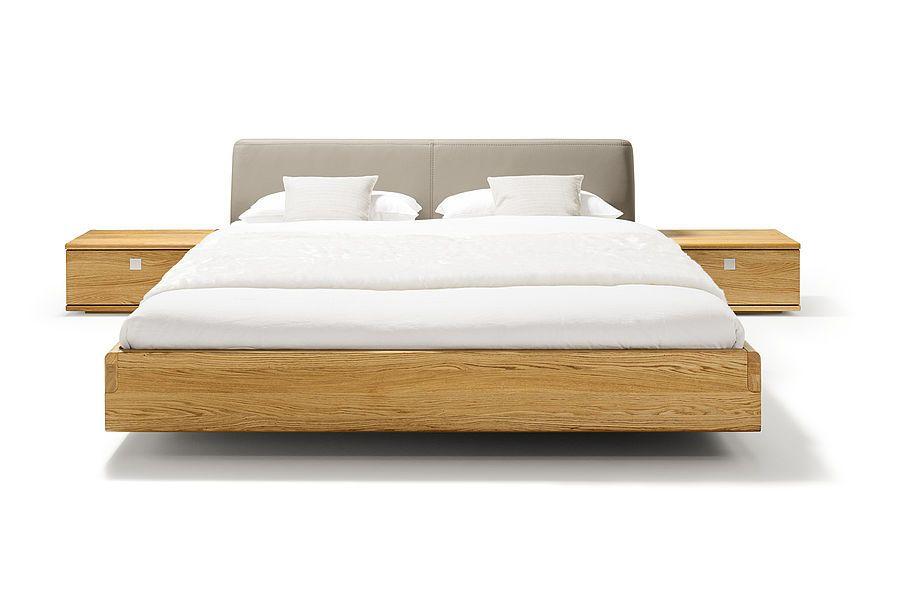 Team 7 I nox Bett in Eiche und mit Lederhaupt Möbel Wohnen