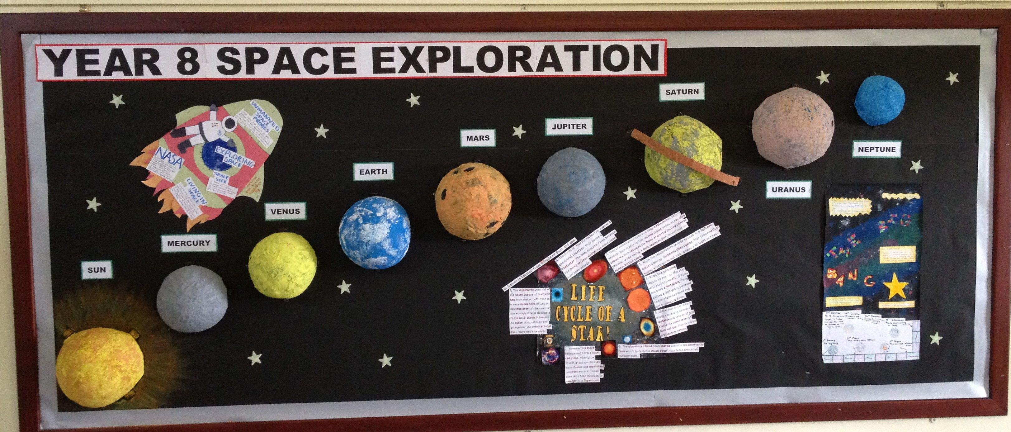 Ideas For Tactile Library Displays Using The Solar System