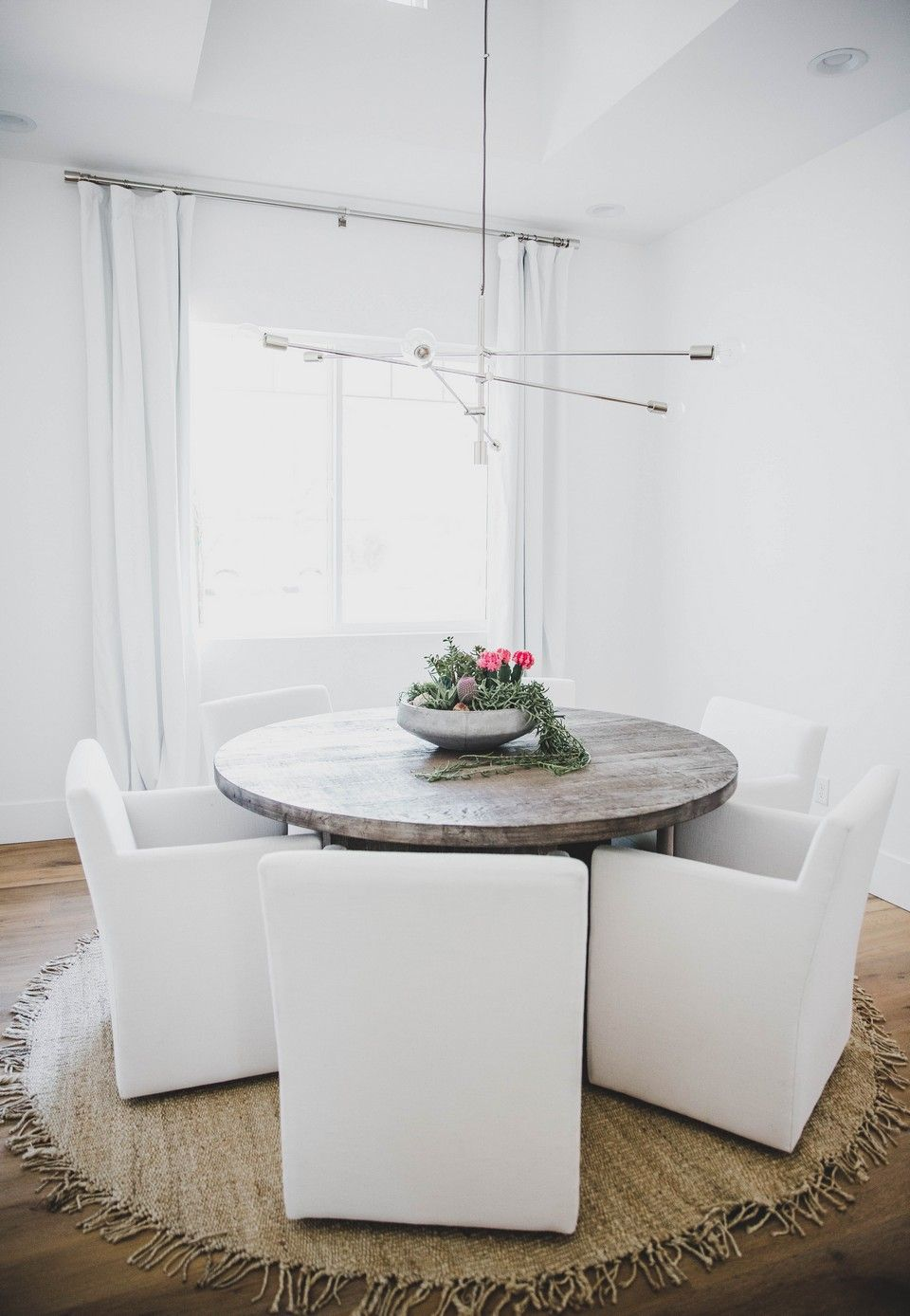 Small White Modern Dining Room