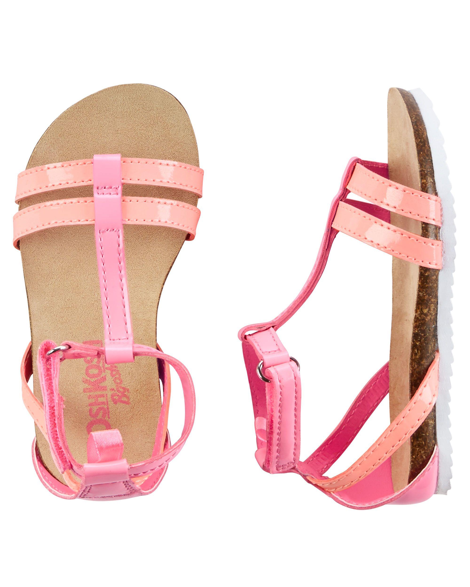 OshKosh T-Strap Sandals | Babies, Baby girl stuff and Baby girl fashion