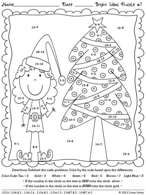 Pin By Lenka Bednarikova On Winter Wonder Christmas Math Christmas Math Worksheets Christmas Classroom