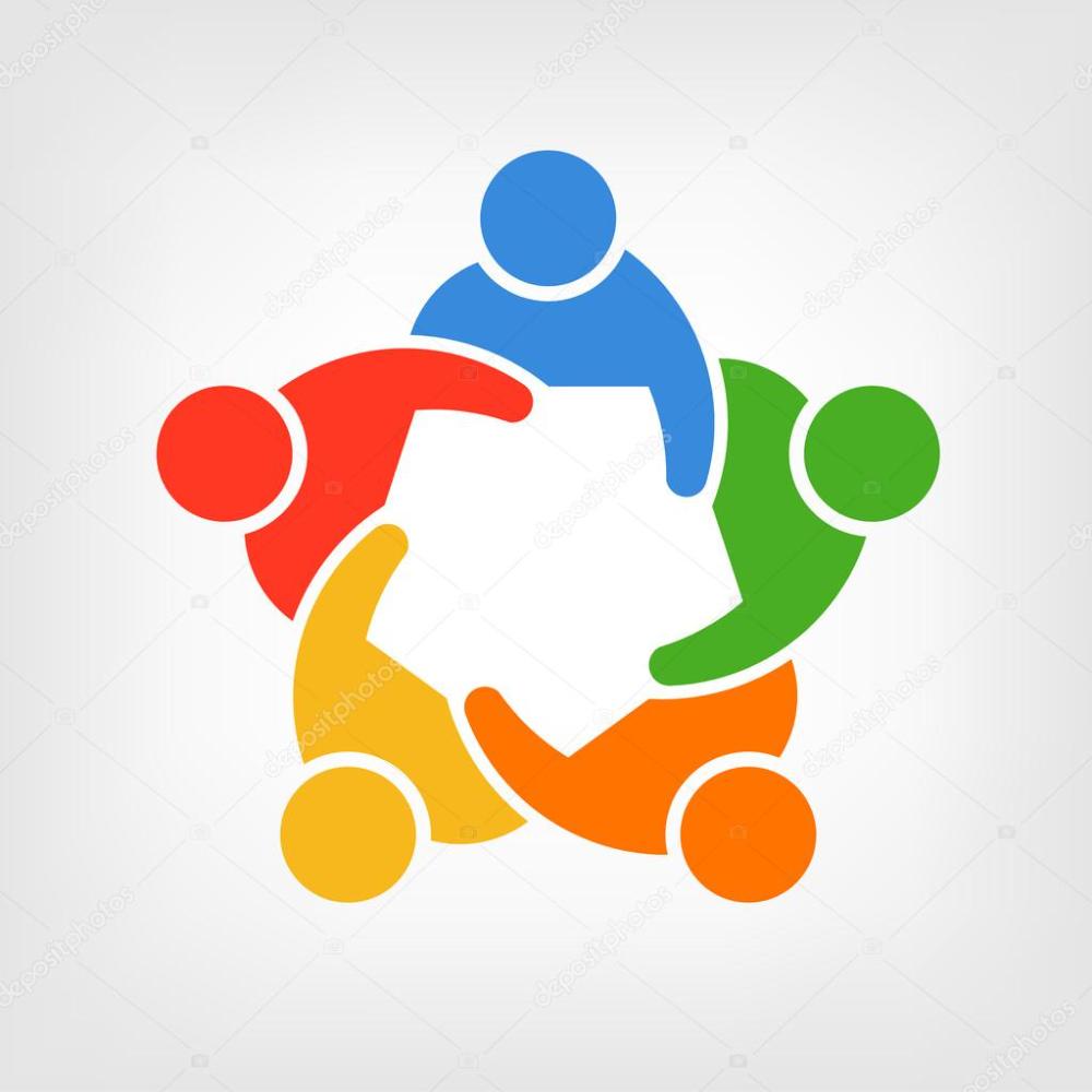 Download Logo Group Of People Team 5 Stock Illustration Teamwork Logo Family Logo People Logo