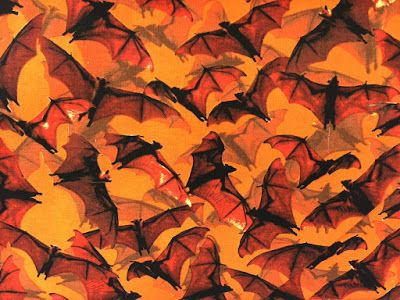 Halloween Bat fabric at Wal-Mart Vintage Halloween Collector