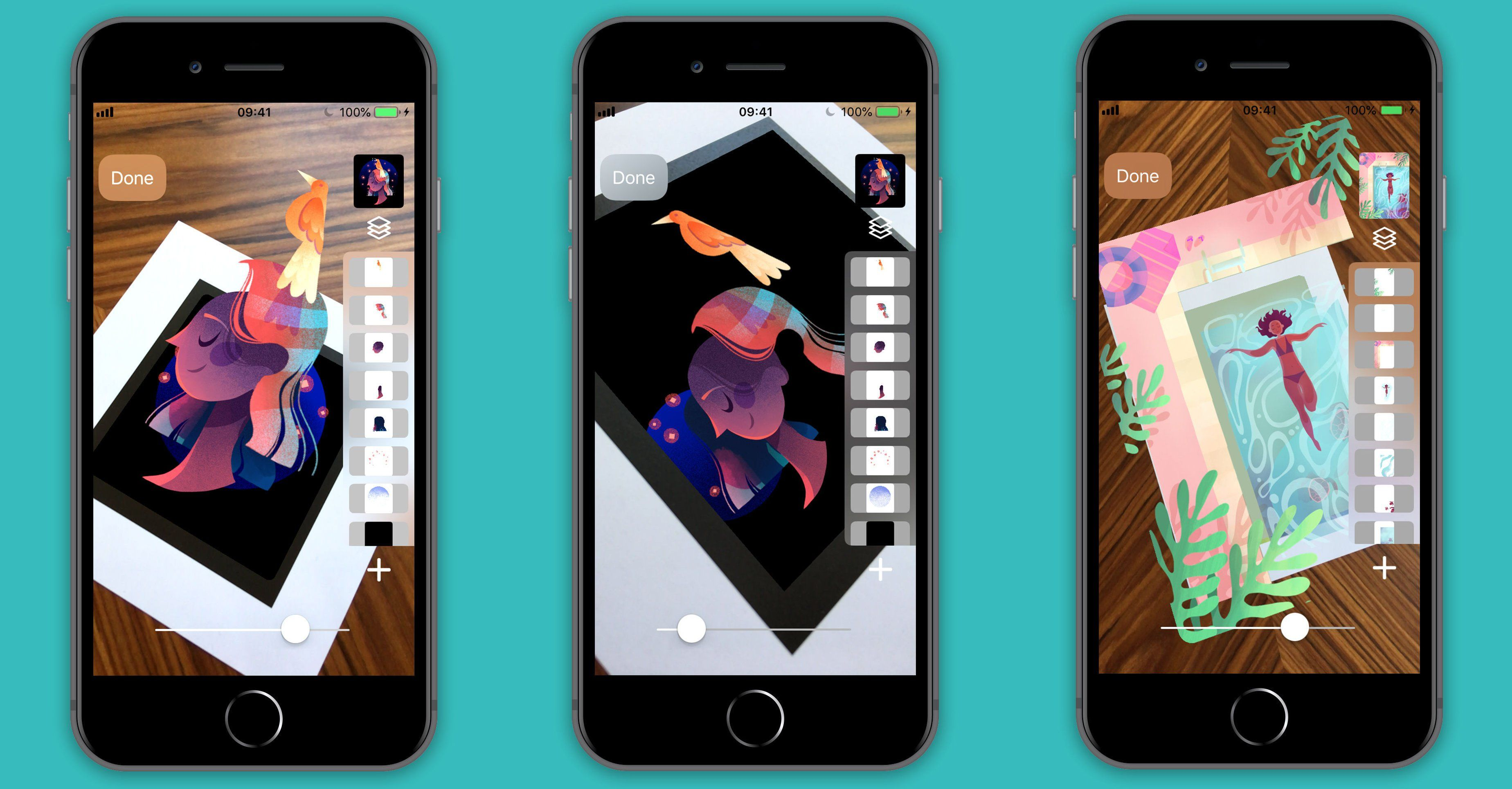 Bring your layered art to life in slide ar with images
