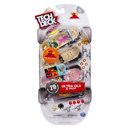 Tech Deck - 96mm Fingerboards - 4-Pack – Toy Machine, Multi