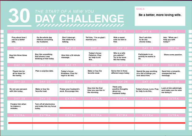 30 Day Becoming A Better Wife Challenge Good Wife How To Become Love My Family