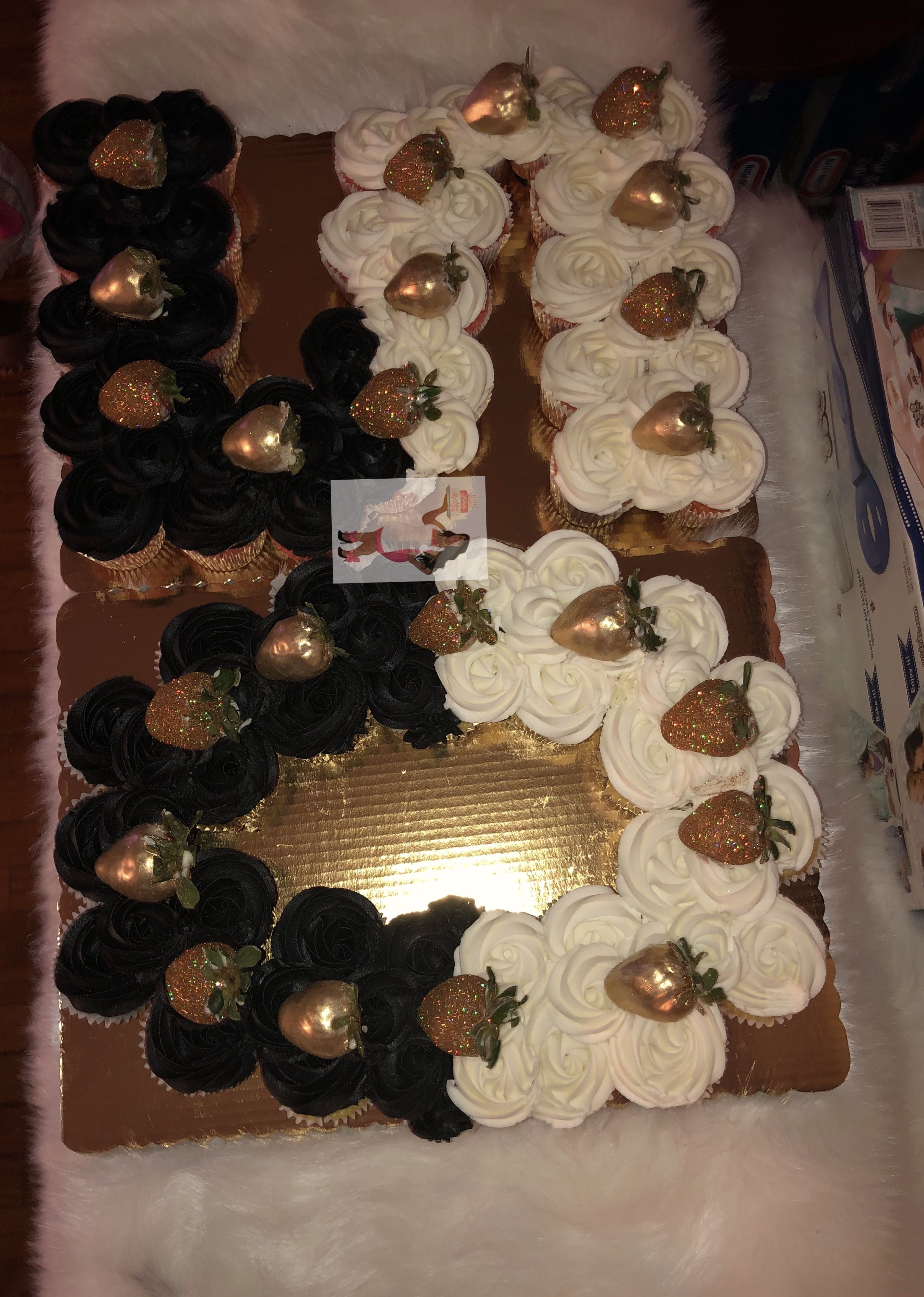 Number 50 Pull Apart Cupcake Cake With Chocolate Covered