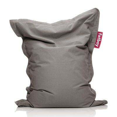 Photo of Fatboy Large Sitzsack aus 100% Baumwolle Polsterung: Taupe