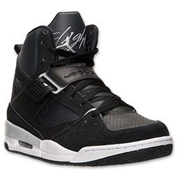 promo code f233a 7ed51 Men s Jordan Flight 45 High Basketball Shoes   FinishLine.com   Black Wolf  Grey Anthracite