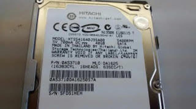 PS3 Hard Drive HTS541640J9SA00 PN 0A53710 Hitachi 40GB SATA
