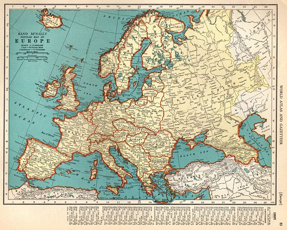 1939 vintage europe map antique map of europe print gallery wall art 1939 vintage europe map antique map of europe print gallery wall art spain france italy gift for map collector traveler 8033 gumiabroncs Gallery