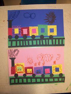 Kindergarten Shape trains | School | Pinterest
