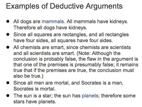 inductive vs. deductive arguments - Google Search   TOK ...