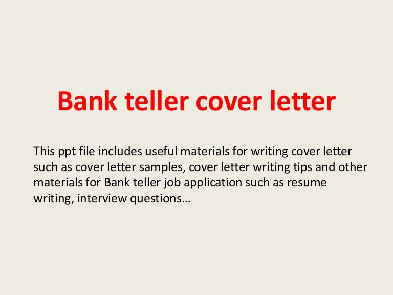 Bank teller cover letter Curriculum Vitae Pinterest Bank