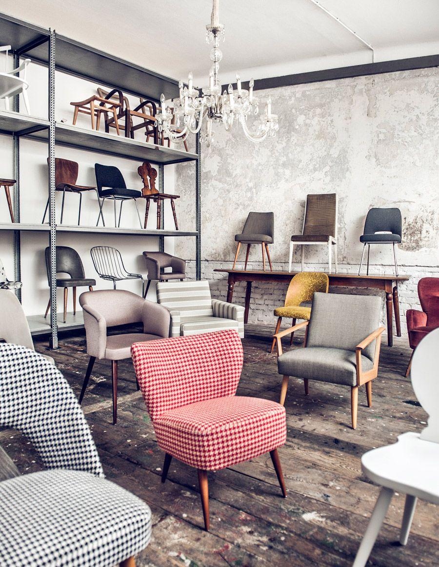 Chairs restored by Martina Sperl Martina Sperl