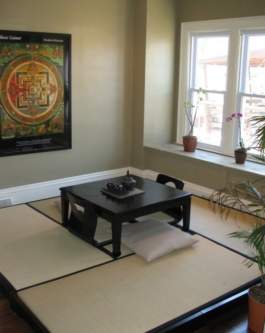 japanese tea room, zen serenity in the dining room of our 1926