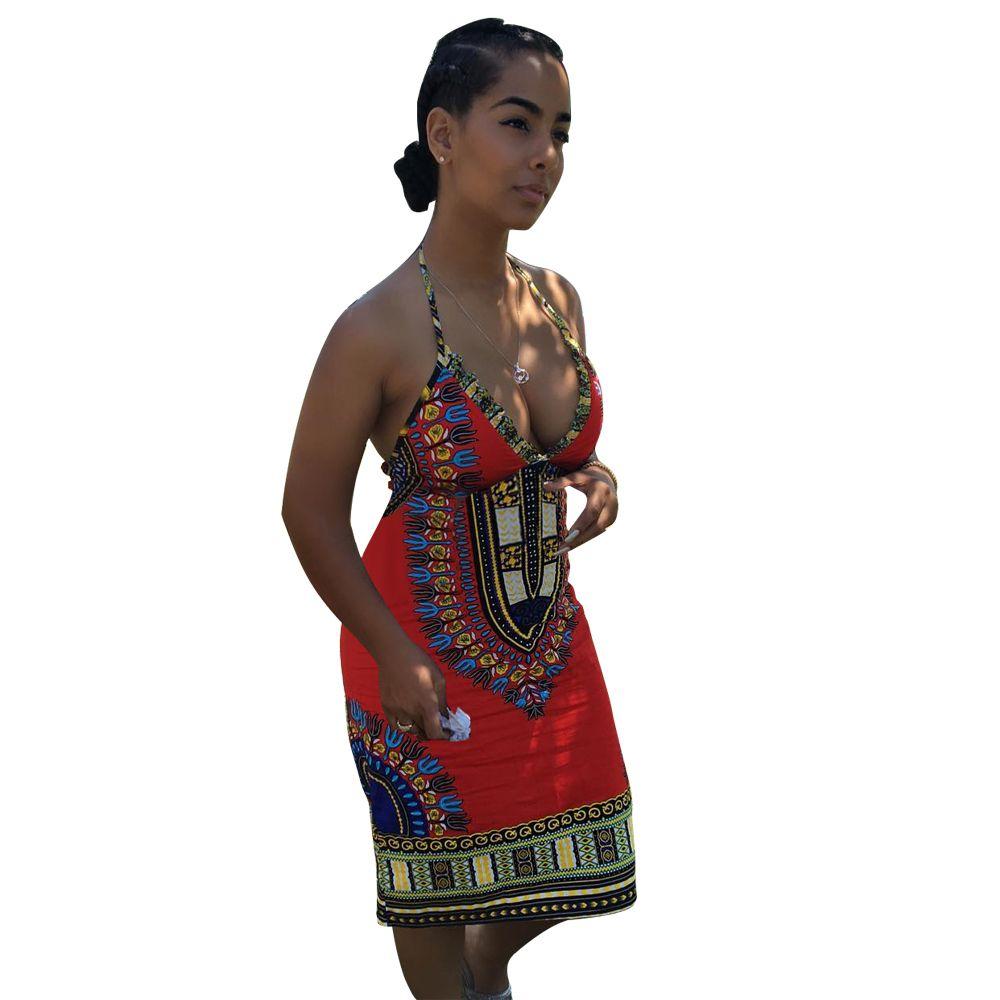Click to buy ucuc women summer dashiki dress african print