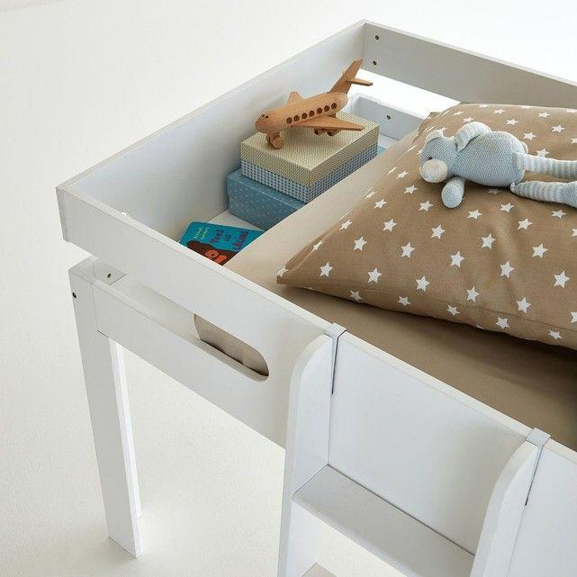 lit avec espace chevet int gr et sommier dydus lit mi hauteur rangement sous le lit et lit. Black Bedroom Furniture Sets. Home Design Ideas