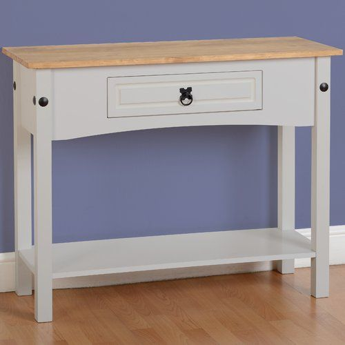 August Grove Angelina Console Table Wooden Console Table White