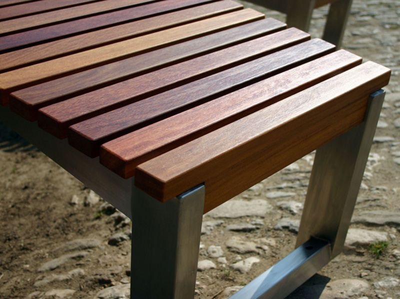 Furniture · Stainless steel and wood ...