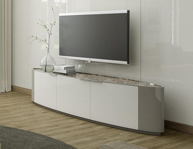 outlet store 9cc6b 59dbf Contemporary Imperador TV unit in ivory and grey-beige high ...