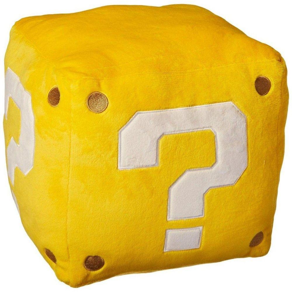 "Super Mario Bros. 10"" Large Pillow Plush: Coin Box images"