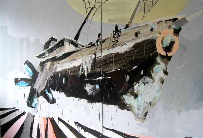 Flying off into the Sky, 200×350 cm, 2010 mie olise