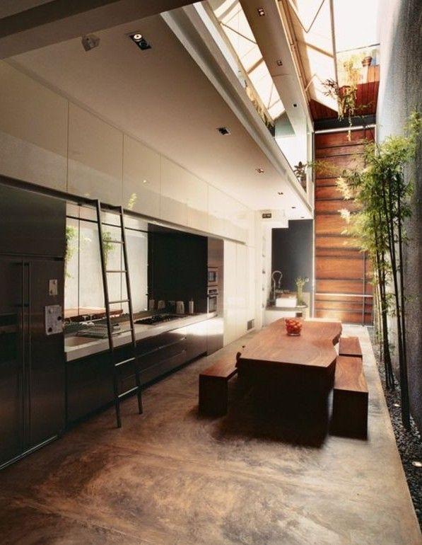 Fußboden aus Beton-estrich im Braun für großzügige - interieur bodenbelag aus beton haus design bilder