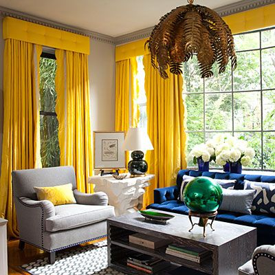 Amanda Nisbet Lookbook Yellow Curtains Living Room Yellow Living Room Blue Living Room