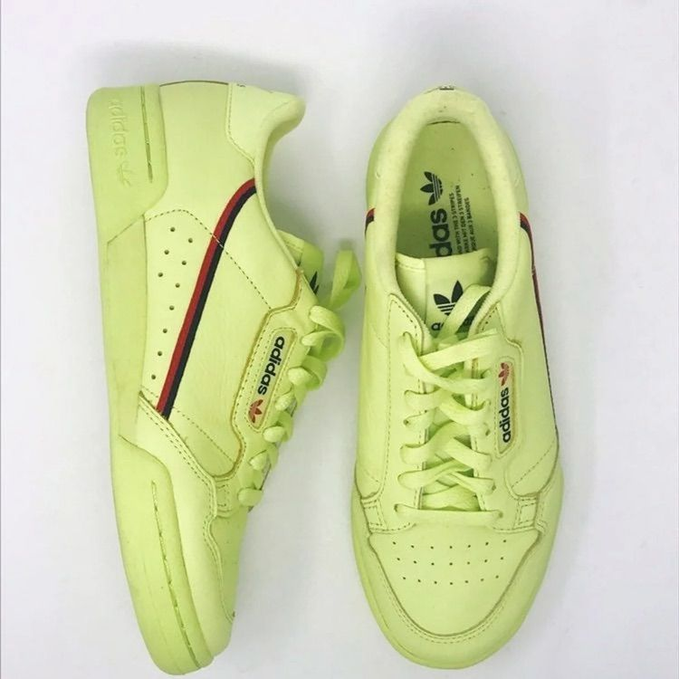 adidas Shoes | Adidas Neon Green Continental 80 Sneakers