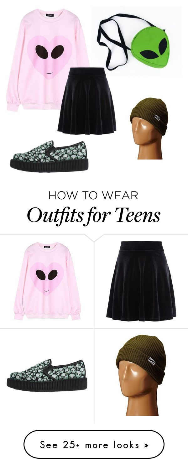 """."" by the-mighty-fail on Polyvore featuring Chicnova Fashion, T.U.K., New Look and Neff"